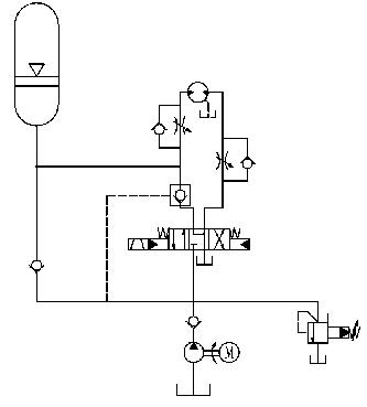 液压驱动系统原理图