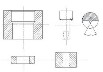 图;(c)模具组装示意图-SiC陶瓷阀芯的设计与研制